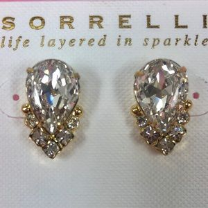 Sorrelli Large Pear Shaped Post Earring-Gold